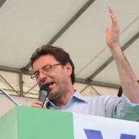 Foto Nicoloro G. 13/05/2011 Milano Chiusura della campagna elettorale della Lega Nord. nella foto Giancarlo Giorgetti