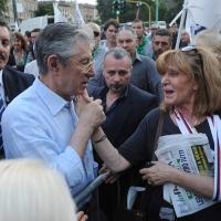 Foto Nicoloro G. 13/05/2011 Milano Chiusura della campagna elettorale della Lega Nord. nella foto Umberto Bossi