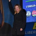Foto Nicoloro G.   24/01/2020   Ravenna    Chiusura della campagna elettorale per le regionali dell' Emilia-Romagna. nella foto la presidente di Fratelli d' Italia Giorgia Meloni.