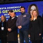 Foto Nicoloro G.   24/01/2020   Ravenna    Chiusura della campagna elettorale per le regionali dell' Emilia-Romagna. nella foto il gruppo dei leader della coalizione di centro-destra.