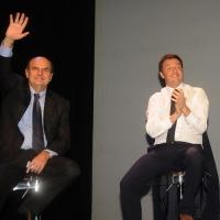 Foto Nicoloro G. 01/02/2013 Firenze Evento di grande importanza, forse unico, che vede insieme in questa campagna elettorale il sindaco di Firenze e il segretario generale del PD. nella foto Pierluigi Bersani – Matteo Renzi