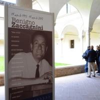 Foto Nicoloro G. 17/04/2012 Ravenna Commemorazione di Benigno Zaccagnini, a cento anni dalla sua nascita, alla presenza dei famigliari, delle autorita' cittadine e del leader dell' UDC Pier Ferdinando Casini. nella foto Il manifesto dell'evento nei Chiostri Francescani
