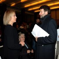 5/11/2015   Ravenna   Commemorazione del leader democristiano Benigno Zaccagnini a 25 anni dalla sua scomparsa. nella foto il ministro Dario Franceschini s' intrattiene con la figlia del leader scomparso Livia.