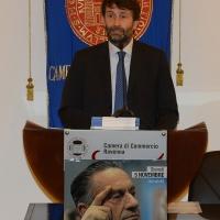 Foto Nicoloro G.  5/11/2015   Ravenna   Commemorazione del leader democristiano Benigno Zaccagnini a 25 anni dalla sua scomparsa. nella foto il ministro Dario Franceschini che e' intervenuto alla commemorazione.
