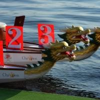 Foto Nicoloro G.  07/09/2014   Ravenna   Giornata conclusiva della nona edizione dell' IDBF,  Campionati Mondiali per club di Dragon Boat. Partecipano 27 nazioni, 5300 atleti, 129 club che gareggeranno nelle tre categorie Open maschili, femminili e misti. nella foto tre canoe pronte per la gara.