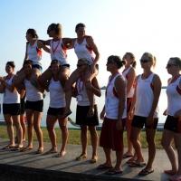 Foto Nicoloro G.  07/09/2014   Ravenna   Giornata conclusiva della nona edizione dell' IDBF,  Campionati Mondiali per club di Dragon Boat. Partecipano 27 nazioni, 5300 atleti, 129 club che gareggeranno nelle tre categorie Open maschili, femminili e misti. nella foto esultanza per la vittoria.
