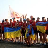 Foto Nicoloro G.  07/09/2014   Ravenna   Giornata conclusiva della nona edizione dell' IDBF,  Campionati Mondiali per club di Dragon Boat. Partecipano 27 nazioni, 5300 atleti, 129 club che gareggeranno nelle tre categorie Open maschili, femminili e misti. nella foto atleti dell' Ucraina.