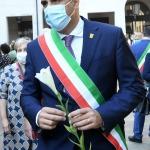 Foto Nicoloro G.   12/09/2021   Ravenna   Questa giornata segna il culmine delle celebrazioni dei 700 anni dalla morte di Dante. nella foto il sindaco di Ravenna Michele de Pascale.