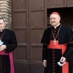 Foto Nicoloro G.   12/09/2021   Ravenna   Questa giornata segna il culmine delle celebrazioni dei 700 anni dalla morte di Dante. nella foto l' arcivescovo Lorenzo Ghizzoni, a sinistra, e il cardinale Gianfranco Ravasi.