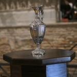 Foto Nicoloro G.   12/09/2021   Ravenna   Questa giornata segna il culmine delle celebrazioni dei 700 anni dalla morte di Dante. nella foto l' ampolla contenente l' olio che la citta' di Firenze offre per alimentare la lampada nella tomba del Sommo Poeta.