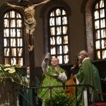 Foto Nicoloro G.   12/09/2021   Ravenna   Questa giornata segna il culmine delle celebrazioni dei 700 anni dalla morte di Dante. nella foto il cardinale Gianfranco Ravasi mentre celebra la Santa Messa per il Sommo Poeta.
