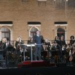 Foto Nicoloro G.   12/09/2021   Ravenna   Questa giornata segna il culmine delle celebrazioni dei 700 anni dalla morte di Dante. nella foto il maestro Riccardo Muti saluta il pubblico prima di dirigere il concerto che sancira' la conclusione ufficiale  delle celebrazioni.