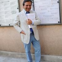 """Foto Nicoloro G. 03/07/2011 Milano Ottava serata della dodicesima edizione de """" La Milanesiana """" che quest' anno ha per tema """" Bugie e Verita' """". nella foto Piero Chiambretti"""