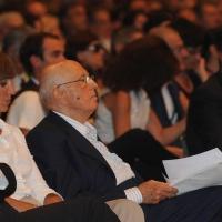 """Foto Nicoloro G. 21/08/2011 Rimini Edizione 2011 del Meeting di Rimini che ha per titolo """" E l' esistenza diventa una immensa certezza """".  nella foto Giorgio Napolitano"""