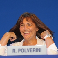 """Foto Nicoloro G. 26/08/2011 Rimini Sesta giornata dell' edizione 2011 del Meeting di Rimini che ha per titolo """" E l' esistenza diventa una immensa certezza """". nella foto Renata Polverini"""