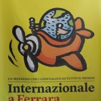 """Foto Nicoloro G. 30/09/2011 Ferrara Giornata inaugurale della quinta edizione di """" Internazionale """", il festival di giornalismo organizzato dal settimanale """" Internazionale """". Un fine settimana di incontri, dibattiti, documentari, con ospiti da tutto il mondo. nella foto Il logo dell'evento"""