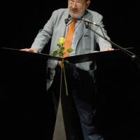 """Foto Nicoloro G. 26/06/2013 Milano Ottava giornata della quattordicesima edizione de """" La Milanesiana """" che ha per tema """" Il segreto """". nella foto Umberto Eco"""
