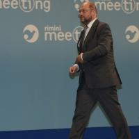 """Foto Nicoloro G. 20/08/2013 Rimini Terza giornata della trentaquattresima edizione del """" Meeting di Rimini """" che quest' anno ha per tema """" Emergenza uomo """". nella foto Martin Schulz"""