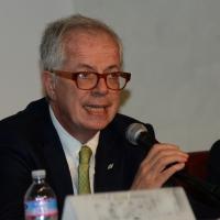 Foto Nicoloro G.   28/08/2014  Rimini     Quinta  giornata della XXXV edizione del Meeting per l' amicizia fra i popoli. nella foto Marcello Messori, presidente di Ferrovie dello Stato.