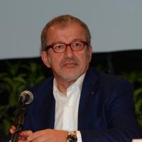 Foto Nicoloro G.   29/08/2014  Rimini      Sesta giornata della XXXV edizione del Meeting per l' amicizia fra i popoli. nella foto il governatore della Lombardia Roberto Maroni.