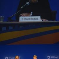 Foto Nicoloro G.   30/08/2014  Rimini   Settima ed ultima giornata della XXXV edizione del Meeting per l' amicizia fra i popoli. nella foto Sergio Marchionne e Bernhard Scholz, presidente della Compagnia delle Opere.