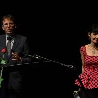 """Foto Nicoloro G.  23/06/2015  Milano    Seconda serata della sedicesima edizione de """" La Milanesiana """". nella foto l' assessore Filippo Del Corno ed Elisabetta Sgarbi."""