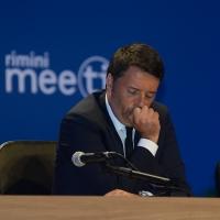 Foto Nicoloro G.   25/08/2015    Rimini    Sesta giornata dell' edizione 2015 del Meeting di C.L. dal titolo ' Di che è mancanza questa mancanza, cuore, che a un tratto ne sei pieno ? '. nella foto il premier Matteo Renzi.