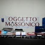 Foto Nicoloro G.   05/04/2019   Rimini   Edizione 2019 della Grande Loggia del GOI ( Grande Oriente d' Italia ) dal titolo ' Tra Cielo e Terra '. nella foto gadgets in esposizione.