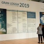 Foto Nicoloro G.   05/04/2019   Rimini   Edizione 2019 della Grande Loggia del GOI ( Grande Oriente d' Italia ) dal titolo ' Tra Cielo e Terra '. nella foto il manifesto dell' evento.