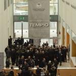 Foto Nicoloro G.   05/04/2019   Rimini   Edizione 2019 della Grande Loggia del GOI ( Grande Oriente d' Italia ) dal titolo ' Tra Cielo e Terra '. nella foto in attesa di entrare al Tempio per i lavori rituali.