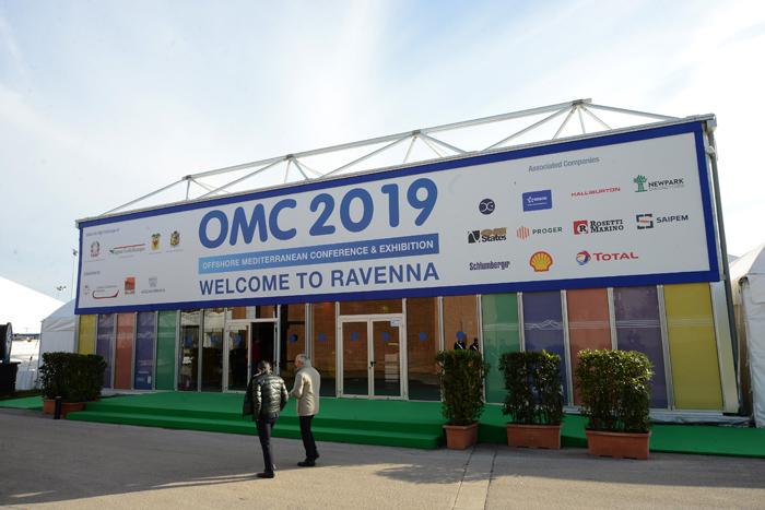 Foto Nicoloro G.   27/03/2019   Ravenna   XIV edizione dell' OMC - Offshore Mediterranean Conference -. nella foto l' ingresso agli stand.