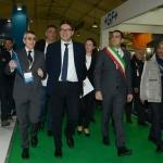 27/03/2019   Ravenna   XIV edizione dell' OMC - Offshore Mediterranean Conference -. nella foto da sinistra il presidente OMC Innocenzo Titone, il sottosegretario Giancarlo Giorgetti e il sindaco di Ravenna Michele de Pascale.
