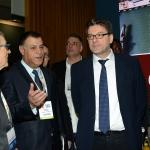 Foto Nicoloro G.   27/03/2019   Ravenna   XIV edizione dell' OMC - Offshore Mediterranean Conference -. nella foto il sottosegretario Giancarlo Giorgetti visita lo stand dell' Egitto guidato dall' a.d. di EGPC Abed Ezz El Regal.