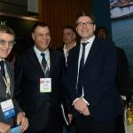 27/03/2019   Ravenna   XIV edizione dell' OMC - Offshore Mediterranean Conference -. nella foto da sinistra Innocenzo Titone, presidentre OMC, l' a.d. di EGPC Abed Ezz El Regal e il sottosegretario Giancarlo Giorgetti.