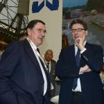 Foto Nicoloro G.   27/03/2019   Ravenna   XIV edizione dell' OMC - Offshore Mediterranean Conference -. nella foto il sottosegretario Giancarlo Giorgetti con il presidente Micoperi Silvio Bartolotti.