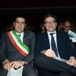 Foto Nicoloro G.   27/03/2019   Ravenna   XIV edizione dell' OMC - Offshore Mediterranean Conference -. nella foto il sindaco di Ravenna Michele de Pascale e il sottosegretario Giancarlo Giorgetti.
