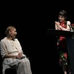 Foto Nicoloro G.   14/06/2021   Milano     Edizione 2021 de La Milanesiana con una serata dedicata alla figura del regista Giorgio Strehler a 100 anni dalla nascita. nella foto la scrittrice e poetessa ungherese Edith Bruck con Elisabetta Sgarbi.