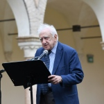 Foto Nicoloro G.   04/09/2021   Ravenna   Apertura ufficiale del Festival Dante 2021 nell' ambito delle Celebrazioni del 700° anniversario della morte del Sommo Poeta. nella foto Francesco Sabatini linguista e presidente onorario dell' Accademia della Crusca.