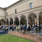 Foto Nicoloro G.   04/09/2021   Ravenna   Apertura ufficiale del Festival Dante 2021 nell' ambito delle Celebrazioni del 700° anniversario della morte del Sommo Poeta. nella foto durante la prolusione di Francesco Sabatini, linguista e presidente onorario dell' Accademia della Crusca.