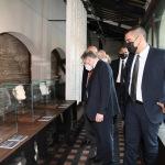 Foto Nicoloro G.   11/09/2021   Ravenna   Intervento del governatore della Banca d' Italia al Festival Dante 2021. nell' ambito delle Celebrazioni del 700° anniversario della morte del Sommo Poeta. nella foto il governatore della Banca d' Italia Ignazio Visco in visita al Museo Dante.