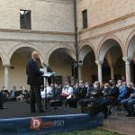 Foto Nicoloro G.   11/09/2021   Ravenna   Intervento del governatore della Banca d' Italia al Festival Dante 2021. nell' ambito delle Celebrazioni del 700° anniversario della morte del Sommo Poeta. nella foto durante l' intervento del presidente ABI Antonio Patuelli.