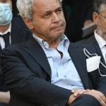 Foto Nicoloro G.   11/09/2021   Ravenna   Intervento del governatore della Banca d' Italia al Festival Dante 2021. nell' ambito delle Celebrazioni del 700° anniversario della morte del Sommo Poeta. nella foto tra il pubblico anche il giornalista Enrico Mentana.