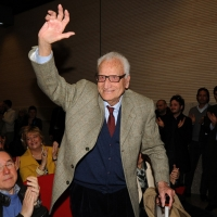 Foto Nicoloro G. 03/03/2012 Milano Congresso del PdL per l' elezione del coordinatore cittadino. nella foto Ezio Ongaro, 104 anni