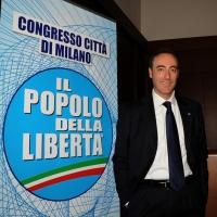 Foto Nicoloro G. 03/03/2012 Milano Congresso del PdL per l' elezione del coordinatore cittadino. nella foto Giulio Gallera