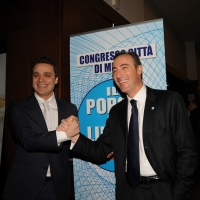 Foto Nicoloro G. 03/03/2012 Milano Congresso del PdL per l' elezione del coordinatore cittadino. nella foto Pietro Tatarella – Giulio Gallera