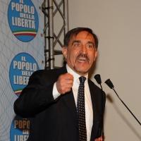 Foto Nicoloro G. 03/03/2012 Milano Congresso del PdL per l' elezione del coordinatore cittadino. nella foto Ignazio La Russa