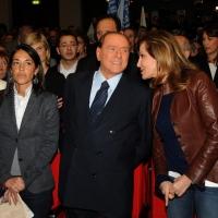 Foto Nicoloro G. 03/03/2012 Milano Congresso del PdL per l' elezione del coordinatore cittadino. nella foto Licia Ronzulli – Silvio Berlusconi – Daniela Santanche'