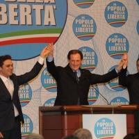 Foto Nicoloro G. 03/03/2012 Milano Congresso del PdL per l' elezione del coordinatore cittadino. nella foto Pietro Tatarella – Mario Mantovani – Giulio Gallera