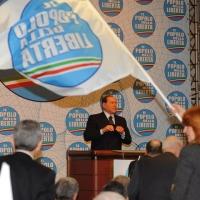 Foto Nicoloro G. 03/03/2012 Milano Congresso del PdL per l' elezione del coordinatore cittadino. nella foto Silvio Berlusconi