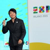 Foto Nicoloro G.   29/06/2015  Milano    Esibizione pomeridiana del grande pianista cinese Lang Lang, ambasciatore di Expo 2015. nella foto il pianista Lang Lang.